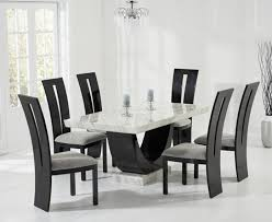 dining room sets cheap price the best of raphael 170cm cream and black pedestal marble dining