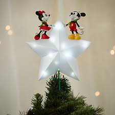 mickey and minnie mouse light up tree topper disney