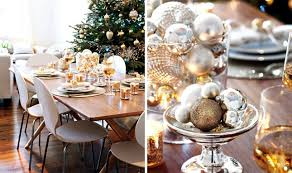 ideas how to decorate christmas table christmas table in gold and silver 22 ideas glamor interior