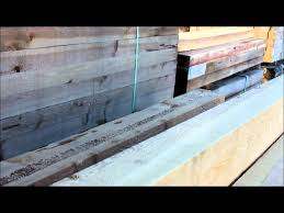 Cedar Landscape Timbers by Pecky Cedar Timbers For Your Garden Boxes Youtube