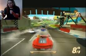 kinect joy ride doesn t even need you to move in order to drive a
