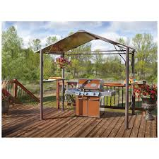 exterior design simply hardtop gazebo with stone flooring for