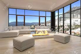 Large Floor L Living Room Calm Large Window Living Room With Textured Wood