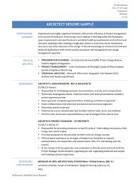 project manager sample resume format architect resume samples free resume example and writing download architect resume