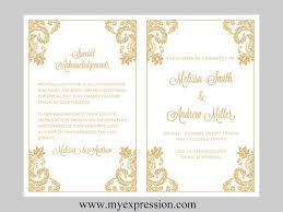 gold wedding programs 15 best wedding programs images on programming