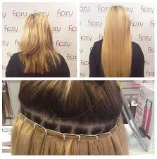 weave hair extensions foxy hair extensions on la weave fitting done at our