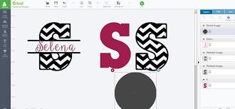 patterned u0026 split images letters using slice u0026 weld cricut