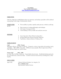 opening resume statement examples sample resume objectives chef frizzigame culinary resume templates chef resume sample examples sous