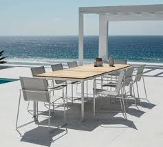 Stainless Steel Patio Table Gloster Stainless Steel Patio Furniture