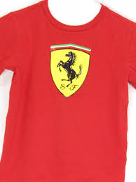 ferrari horse logo scuderia ferrari boy red yellow horse emblem short sleeve t shirt