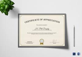 certificate of appreciation template 27 free word pdf