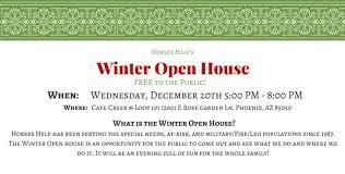 help s winter open house horses help 20 december