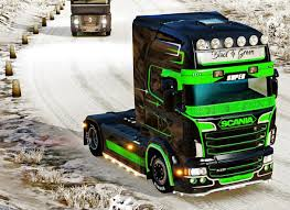 volvo trucks jobs black u0026 green extreme paint job for scania rjl ets2 euro truck