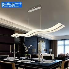 lustre pour bureau moderne led lustres 36 w blanc vague acrylique pour salle à manger