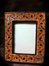 leather picture frames handmade tooled leather picture frame www clickincowgirls
