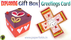 explosion gift box greetings card diy tutorial by