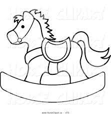 royalty free stock horse designs of coloring book pages