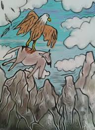 eagle vs goat kin6s art blog