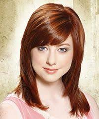 beveled hairstyles for women beveled ends inward curled bangs stacked with highlights side view