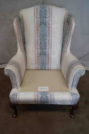 Leather Queen Anne Chair In The Living