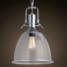 Industrial Glass Pendant Lights Industrial Heavy Metal And Clear Glass Shade Pendant Lighting 11