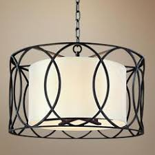 sausalito 25 wide silver gold pendant light amazon com five light wrought iron chandelier with center drum