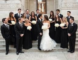 black and white wedding bridesmaid dresses 43 black tie wedding ideas happywedd com
