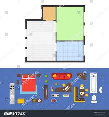 Floor Plan Furniture Clipart Apartment Plan Furniture Living Room Set Stock Vector 606871634