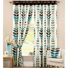 Teal Nursery Curtains Curtains Blackout Shades For Baby Room Amazing Printed Blackout