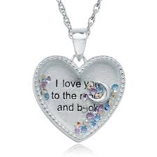 I Love You To The Moon And Back Personalized Necklace I Love You To The Moon U0026 Back Treasure Locket Personalised Engraved