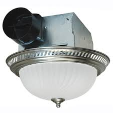 Bathroom Fan Light Fixtures Air King Decorative Nickel 70 Cfm Ceiling Exhaust Fan With Light