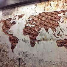 brick wall design extraordinary design ideas brick wall art plus best 25 world map