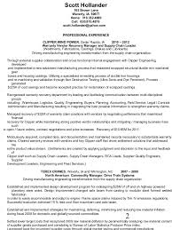 Supply Chain Management Resume Sample by Hollander Resume Advanced Manufacturing Process Delvelopment Continuo U2026