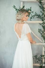 open back wedding dresses boho wedding dress teona bohemian wedding dress