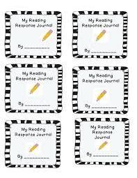 Sustained Silent Reading Worksheet Reader Response Journal Cover First Grade Literacy Pinterest