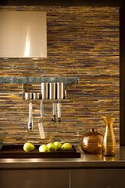 beautiful backsplashes kitchens pencil tile backsplash in tones beautiful kitchen