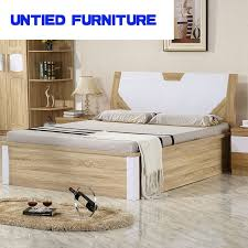 Mdf Bed Frame Desing Of Mdf Modern Bed Simple Bed Wedding Wooden