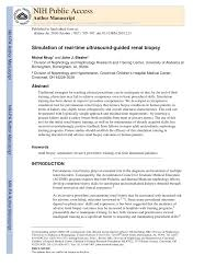 skills and experience keyword simulation of real time ultrasound guided renal biopsy pdf