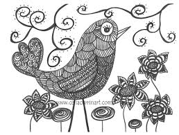 funky artwork funky bird fine art print 8 x 10 black white