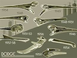 dodge ornaments 1946 59 automobiles hoods