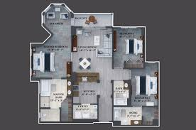 3 Bedroom Plan Three Bedroom Suites The Grove Resort U0026 Spa Orlando