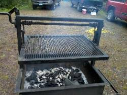 Cowboy Grill And Fire Pit by Gizmoplans Releases New Cowboy Campfire Grill Plans For Grilling