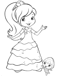 strawberry shortcake coloring page strawberry shortcake coloring