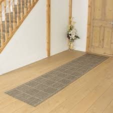 decoration nice brown striped runner rug entryway hallway home