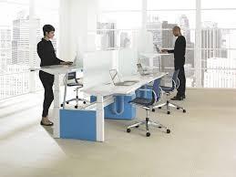 workstation desk wood veneer laminate contemporary livello
