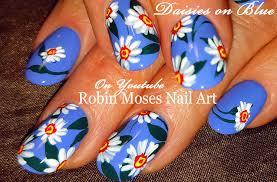 diy daisy nails easy daisies nail art design tutorial youtube