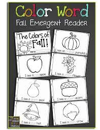 the colors of fall free emergent reader mrs jones u0027 creation station