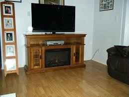 entertainment stand with electric fireplace media oak gas wall