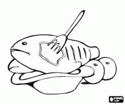 nice coloring pages 9 cooked fish coloring 14880