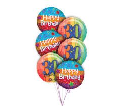 30th birthday flowers and balloons monday morning flowers plush animals and balloons